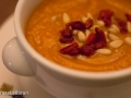 1/365: Instant Pot carrot ginger soup with pine nuts and goji berries. I\'m a lucky man.