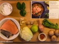 138/365: Mise en place: Sun Basket spicy red curry salmon with basil and kaffir lime